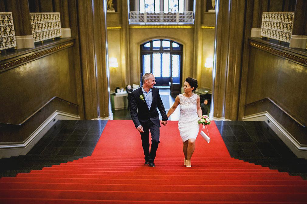 Hochzeit im Säulensaal im Roten Rathaus