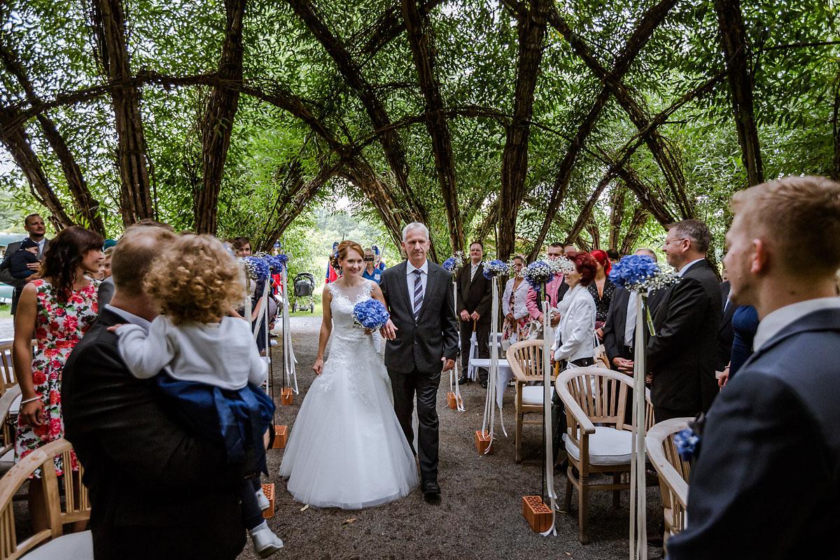 Hochzeit im Standesamt im Weidendom im Spreewaldresort Seinerzeit Schlepzig im Spreewald
